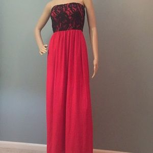Fab'rik red and black dress NWT